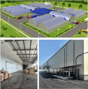 В типовых проектах овощехранилищ используются два вида быстромонтируемых зданий